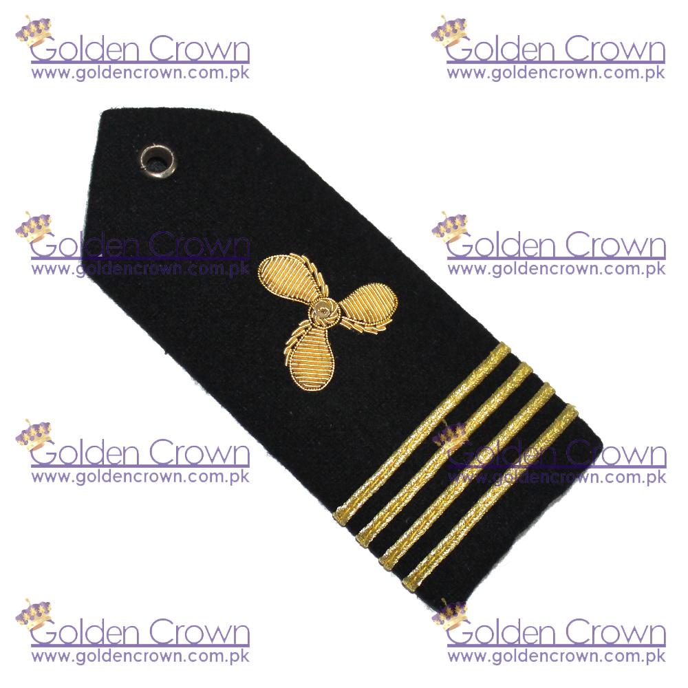 4 Bar Merchant Marine Engineer Epaulette Gold Stripe Epaulettes