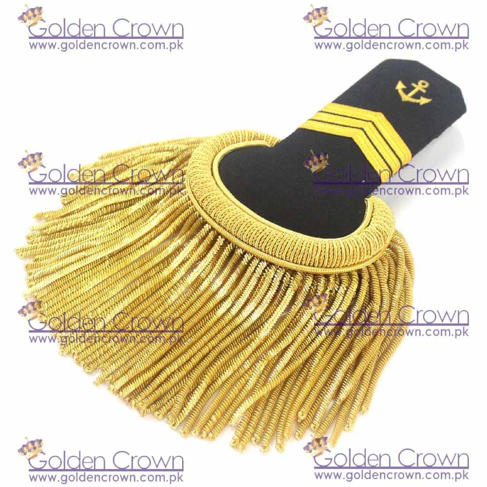 Military Uniform Epaulettes Gold Bullion Fringe, Military