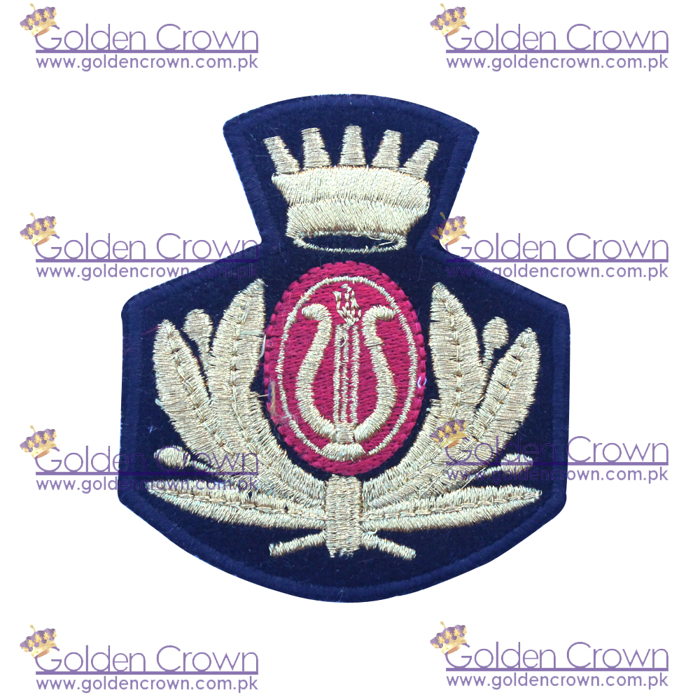 Custom Embroidery Patches Crown,Machine Embroidery Security Badges