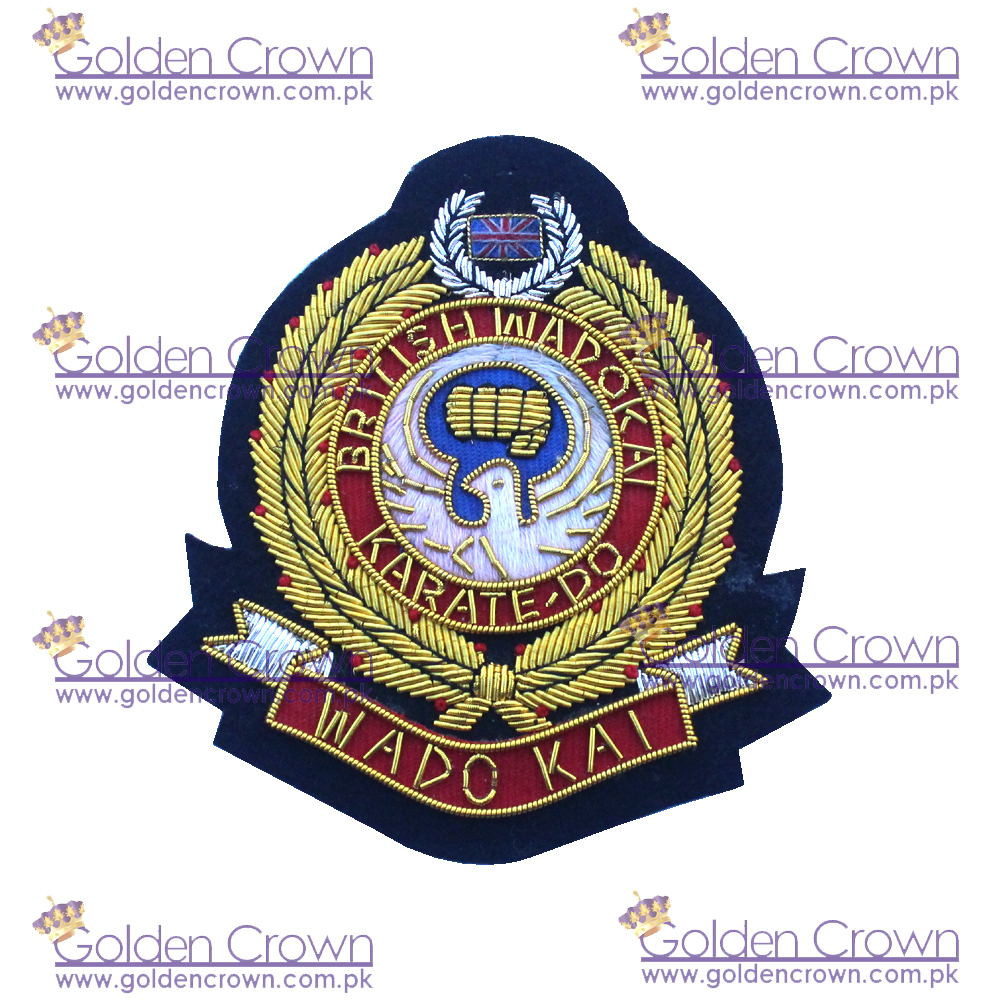 Hand Embroidery Family Crest Blazer Badge,Hand Embroidery