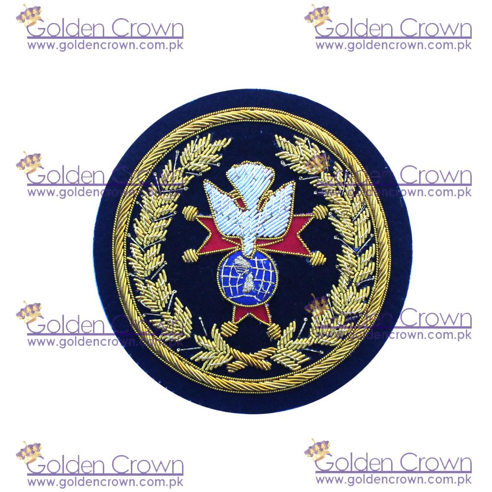 Handmade Bullion Badge, Solos bullion wire blazer badges