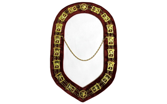 Masonic Regalia Shrine golden Metal Chain Collar