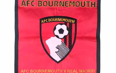 Machine Embroidered AFC Bournemouth Pennants