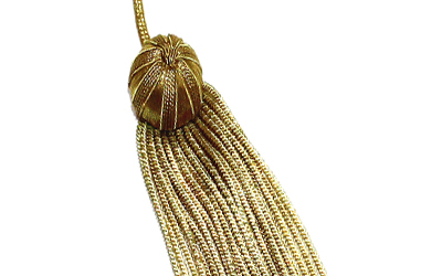 Academic Gold Bullion Tassels Gold Graduation cap Tassel
