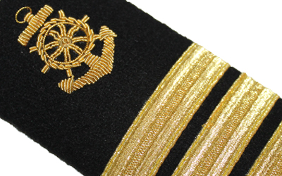 American Navy Epaulets Shoulder Boards Marine Anchor 4 Bar