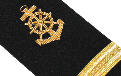 Uniform American Navy Shoulder Boards Epaulets Mate Anchor 1 Bar