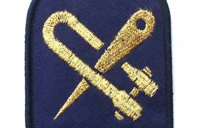Royal Navy Boom Defence Rating Badge