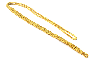 British Army Braided Lanyard yellow