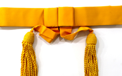 British Army Waist Sash Yellow