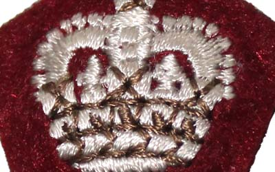 Army Officers Cloth Insignia Crown Pip Supplier