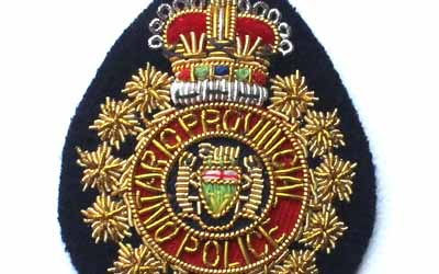 Ontario Provincial Police Bullion Badge