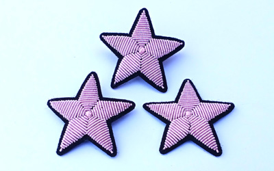 Bullion Embroidery Star Brooch Supplier