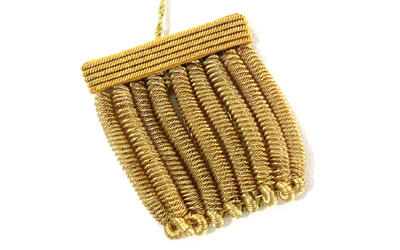 French Bullion Fringe Keychain Tassel
