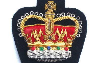 Bullion crown Badge