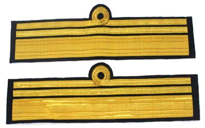 Cuff Rank Sleeve Curls Gold Wire Admiral