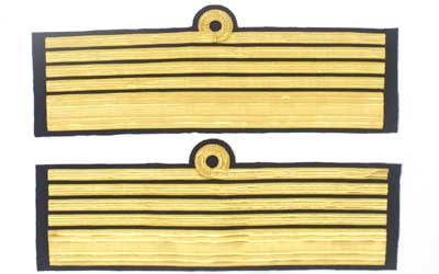 Cuff Rank Sleeve Curls Gold Admiral Of The Fleet