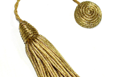 Doctoral Tam Gold Bullion Tassel Gold Graduation Bullion Tassel