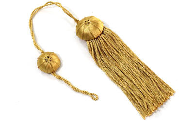 Doctoral Tam Gold Silk Tassel