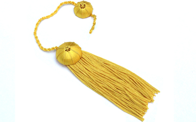 Doctoral Tam yellow Silk Tassel