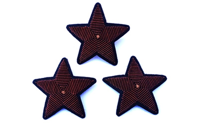 Fashion Bullion Wire Embroidery Star Brooches