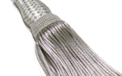 French Metallic Silver Bullion Tassel French Bullion Wire Tassels