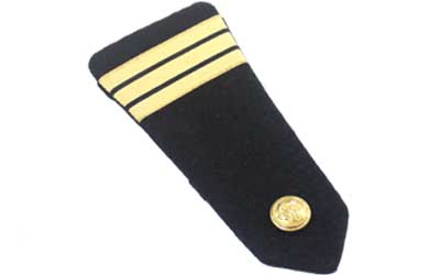 French Vintage Military navy Epaulettes