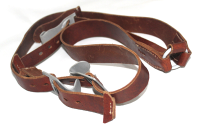 German WW2 Brown Leather Y Straps