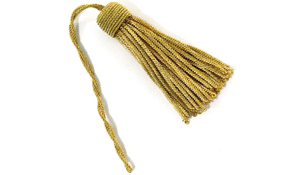 French Gold Bullion Wire Tassel Handmade