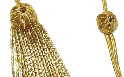Gold Graduation Bullion Tassel Gold Strand and Bullion Tassel