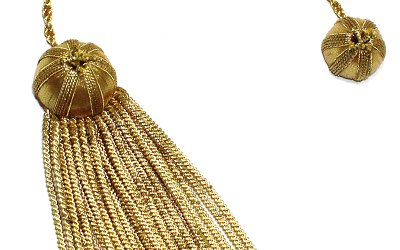 Gold Strand and Bullion Tassel Gold Graduation Bullion Tassel