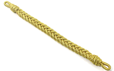 Military Gold Mylar Wire Cap Cord