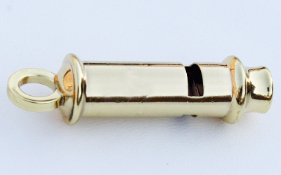 Police Whistle Gold