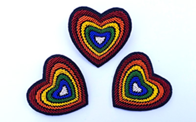 Hand Embroidered Brooch Supplier