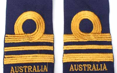 Machine Embroidery Lieutenant commander Slip On Epaulette