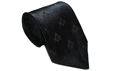 Masonic Tie with self print Square Compass