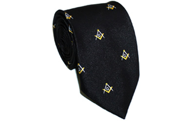 Masonic Craft Masons 100% Silk Tie Embroided Square Compass & G Lodge Gift