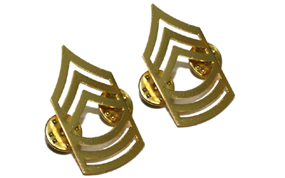 Army Chevron Master Sergeant 22k gold plated