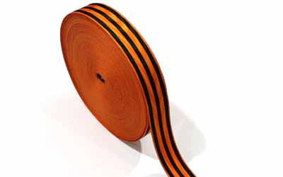 Medal Ribbon Orange And Black