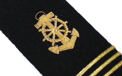 Merchant Marine American Navy Shoulder Boards Anchor Three Bar