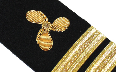 Merchant Marine Shoulder Board Propeller Senior Lieutenant