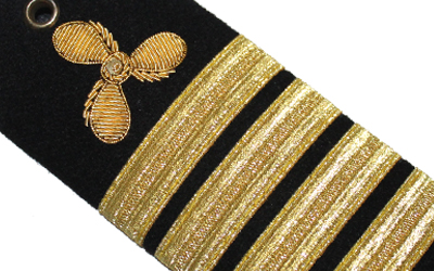 Merchant Marine Shoulder Board: Propeller Captain