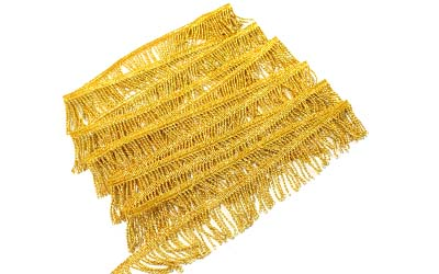 Gold Mylar Thread Fringe