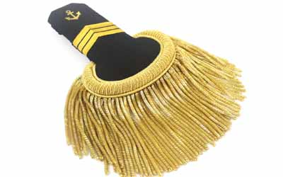 Military Uniform Epaulettes Gold Bullion Fringe