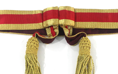 Royal Army Chaplains Waist Sash Gold And Red