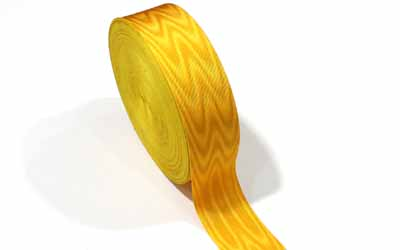 Masonic Regalia Moire Ribbon Yellow