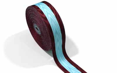 Moire Ribbons Maroon And Sky Blue