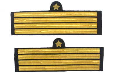 Navy Cuff Rank Sleeve Captain Gold