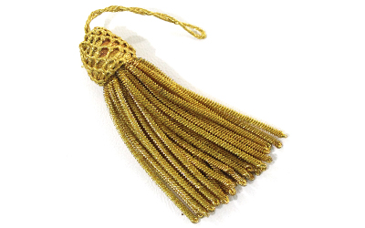 French Metallic Pillow Bullion Tassels