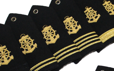 Propeller Shoulder Boards and Epaulets for Merchant Marine