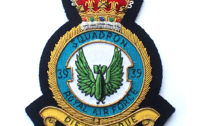 Royal Air Force Squadron Wire Blazer Badge